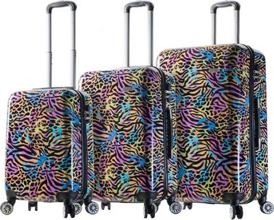 Mia Viaggi ITALY Animal Paint Hardside 3 Piece Spinner Set Pop Animal Paint - Mia Viaggi ITALY Luggage Sets