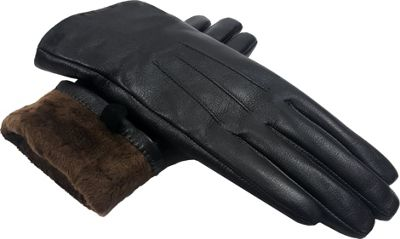 MoDa Ms. D.C. Touchscreen Texting Leather Gloves M - Brown Extra Large - MoDa Hats/Gloves/Scarves