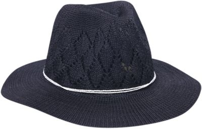 Physician Endorsed Frankie Knit Fedora Hat One Size - Black - Physician Endorsed Hats/Gloves/Scarves