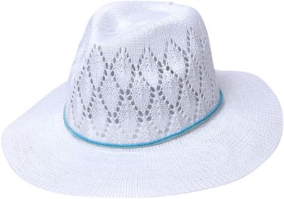 Physician Endorsed Frankie Knit Fedora Hat One Size - White - Physician Endorsed Hats/Gloves/Scarves