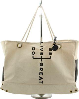 Maha Loka Do Great Tote Cream - Maha Loka Fabric Handbags
