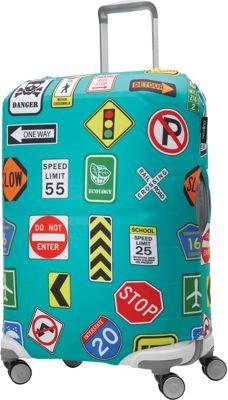 Samsonite Travel Accessories Printed Luggage Cover - Medium Street Signs - Samsonite Travel Accessories Luggage Accessories