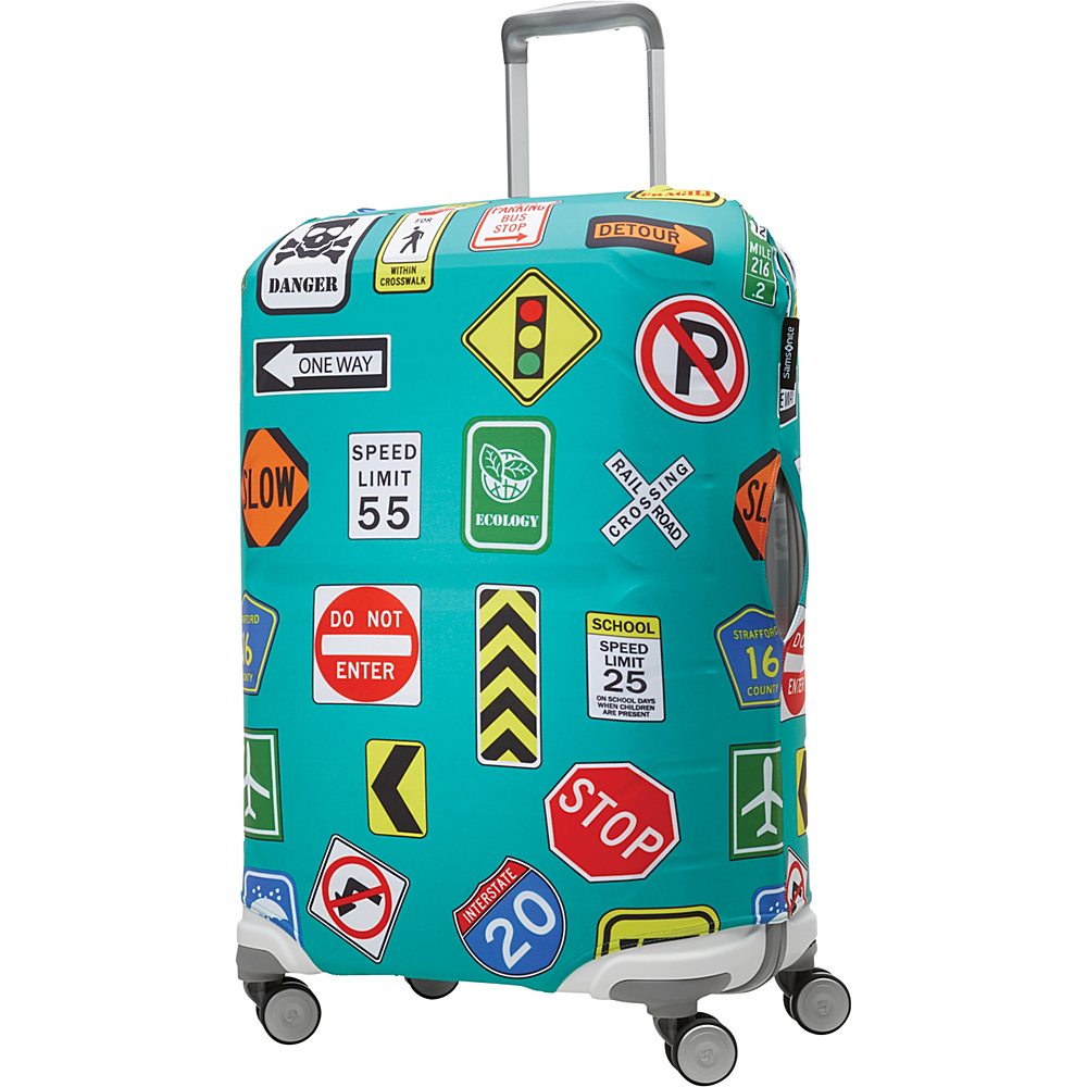 Samsonite Travel Accessories Printed Luggage Cover Medium Street Signs Samsonite Travel Accessories Luggage Accessories