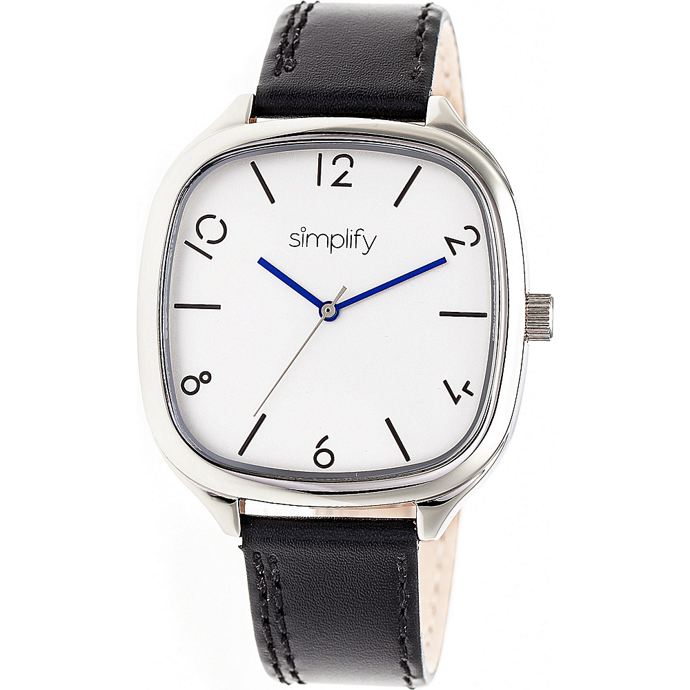 Simplify The 3500 Unisex Watch Black Silver Silver Simplify Watches