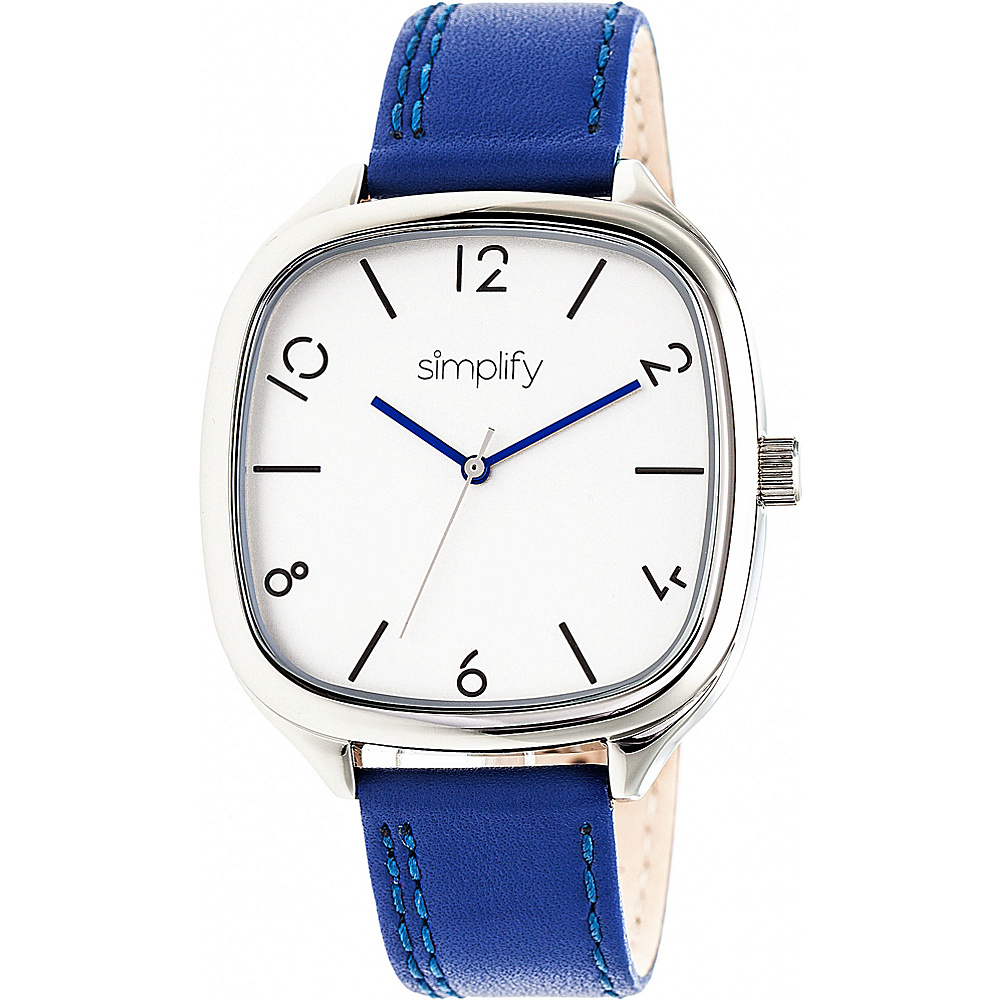 Simplify The 3500 Unisex Watch Blue Silver Silver Simplify Watches