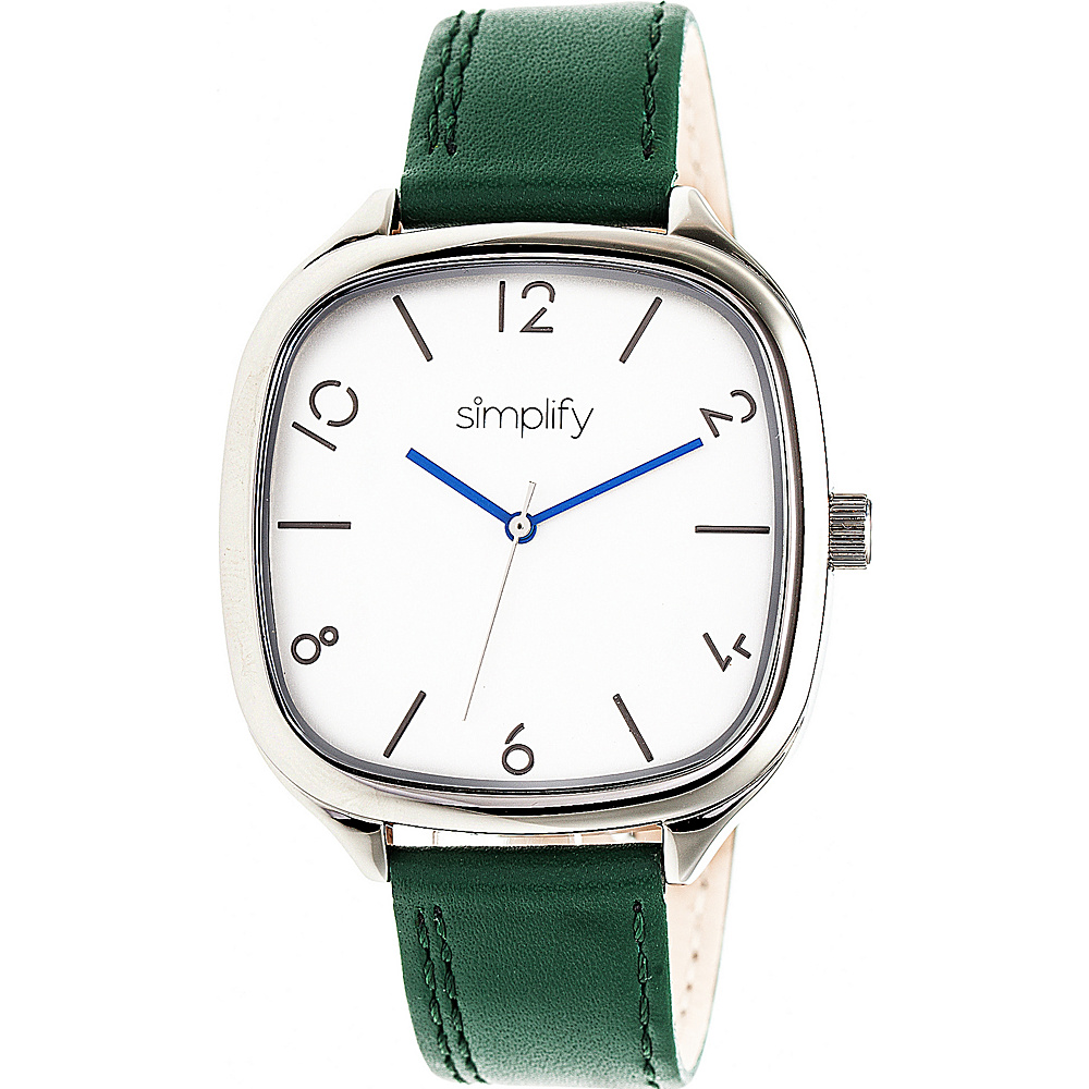 Simplify The 3500 Unisex Watch Forest Green Silver Silver Simplify Watches