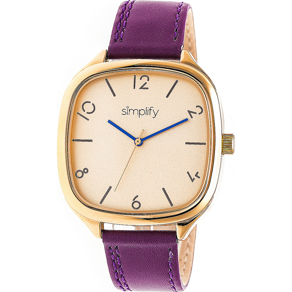 Simplify The 3500 Unisex Watch Plum Gold Gold Simplify Watches