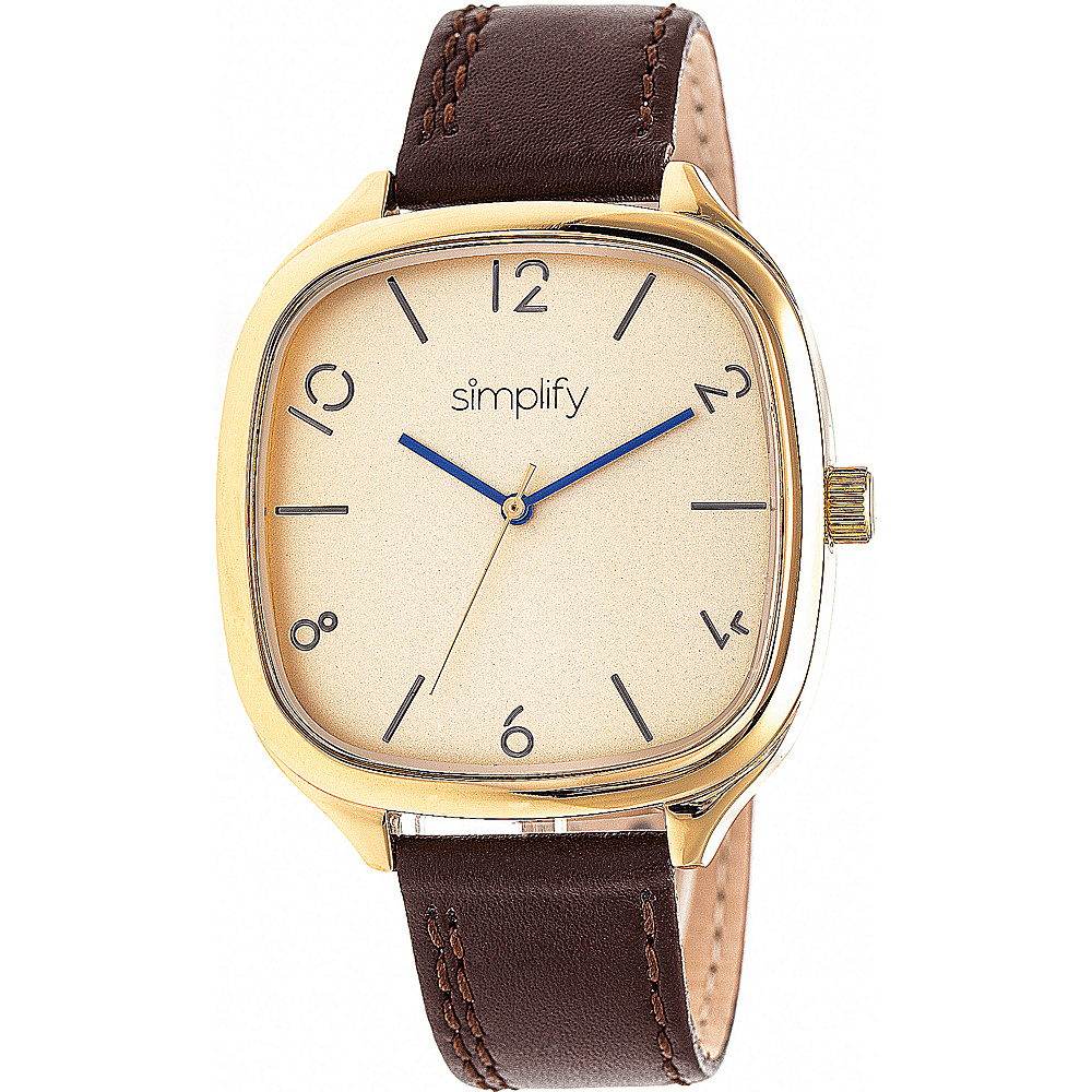Simplify The 3500 Unisex Watch Dark Brown Gold Gold Simplify Watches