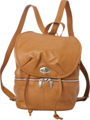 Piel Leather Drawstring Backpack Saddle - Piel Leather Handbags
