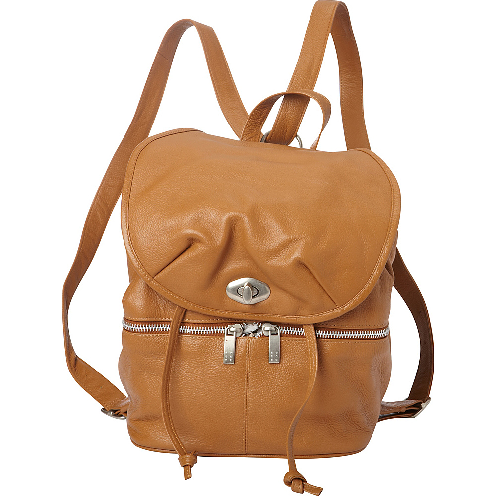 Piel Leather Drawstring Backpack Saddle - Piel Leather Handbags - Handbags, Leather Handbags