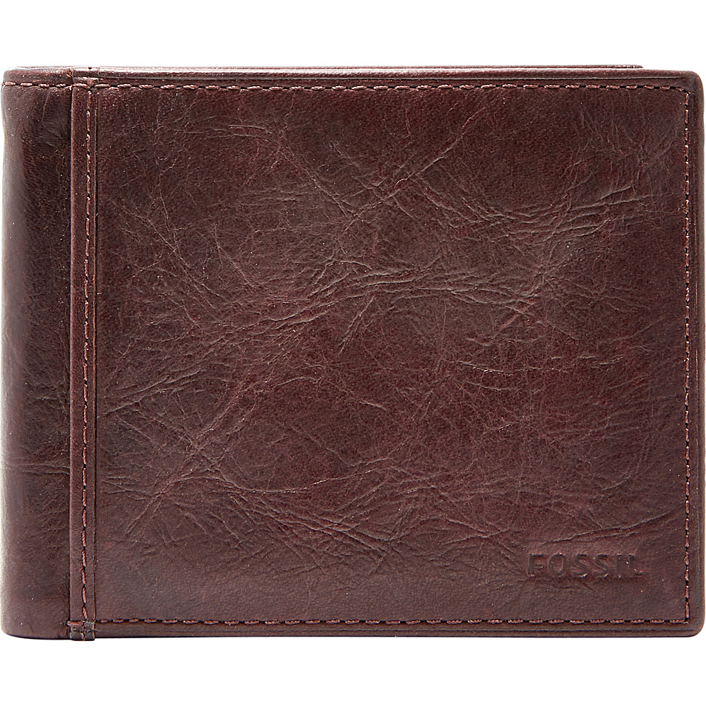 Fossil Ingram RFID Bifold with Flip ID Brown - Fossil Mens Wallets - Work Bags & Briefcases, Men's Wallets