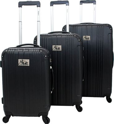 Chariot Monet 3 Pc Hardside Spinner Set Black - Chariot Luggage Sets