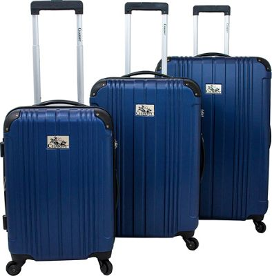 Chariot Monet 3 Pc Hardside Spinner Set Navy - Chariot Luggage Sets