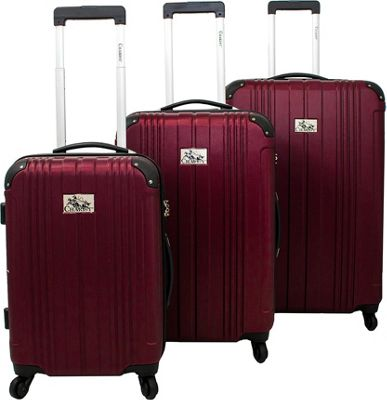 Chariot Monet 3 Pc Hardside Spinner Set Burgundy - Chariot Luggage Sets