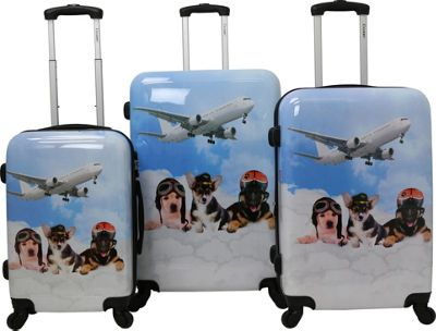 Chariot Pilots 3 Pc Hardside Spinner Set Pilots - Chariot Luggage Sets
