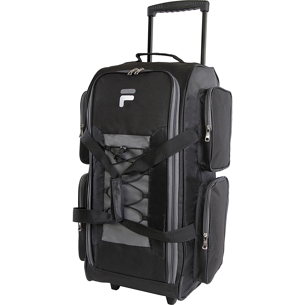 Fila 26 Lightweight Medium Check In Rolling Duffel Bag Black Fila Rolling Duffels