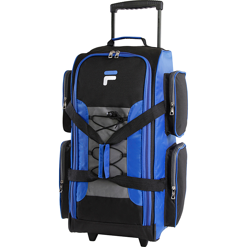 Fila 26 Lightweight Medium Check In Rolling Duffel Bag Blue Fila Rolling Duffels