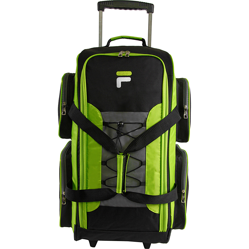 Fila 26 Lightweight Medium Check In Rolling Duffel Bag Neon Lime Fila Rolling Duffels