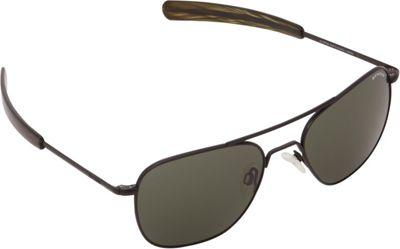 BENRUS Aviator Sunglasses - 55mm Matte Black - BENRUS Sunglasses