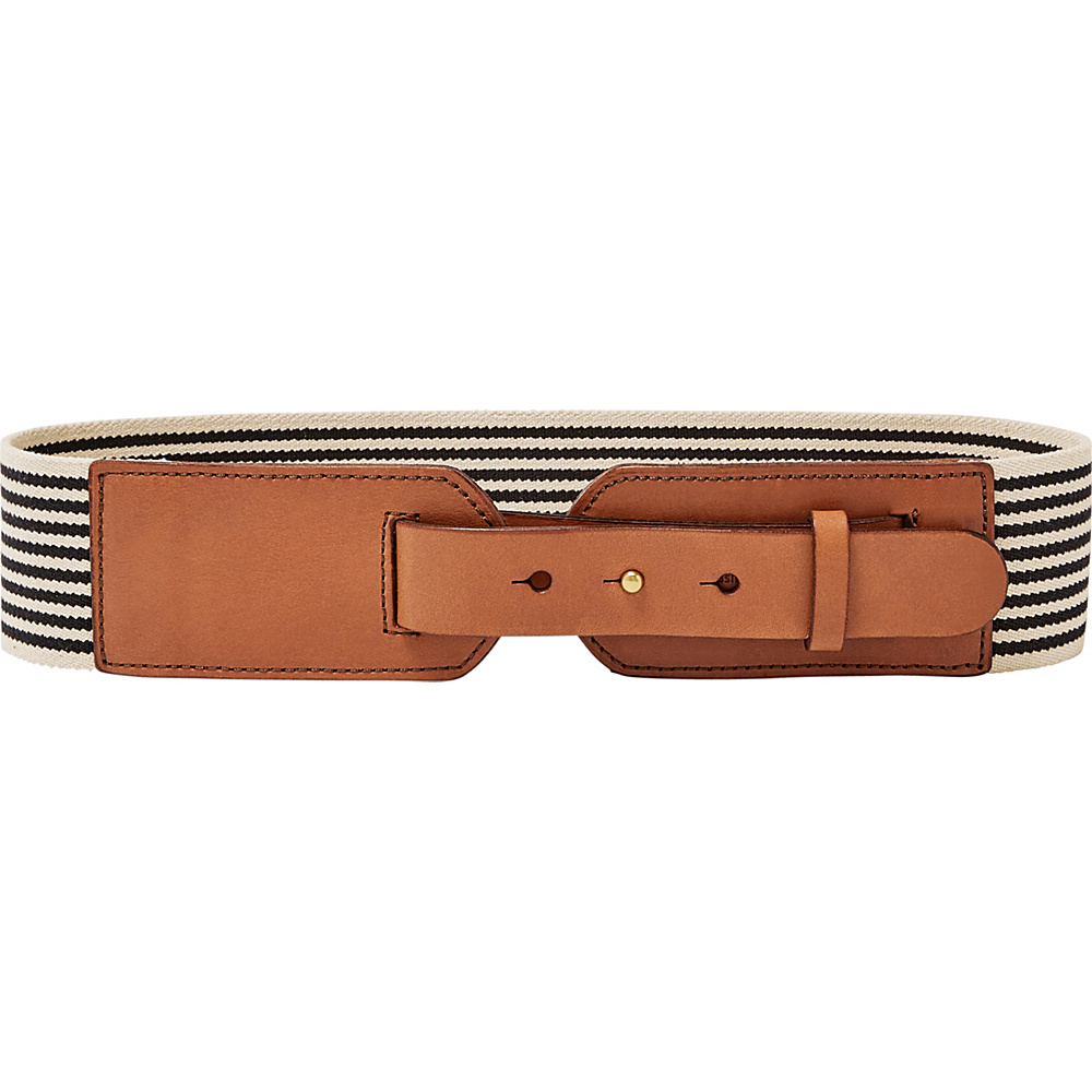 Fossil Webbing Waist Belt M/L - Black Stripe - Fossil Belts - Fashion Accessories, Belts