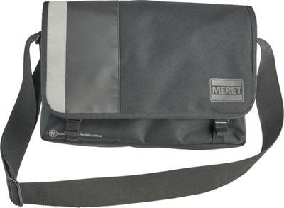 MERET Quickline Pro Laptop Messenger Black - MERET Messenger Bags