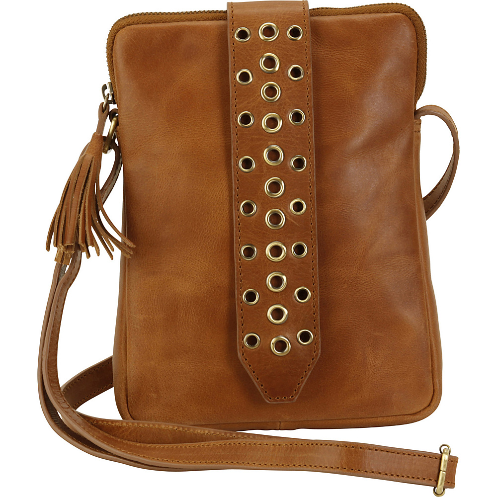 Hadaki Belted Crossbody Distressed Sand - Hadaki Leather Handbags - Handbags, Leather Handbags