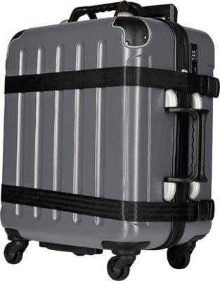 VinGardeValise Petite 02 Wine Carrier Suitcase Dark Grey - VinGardeValise Hardside Checked