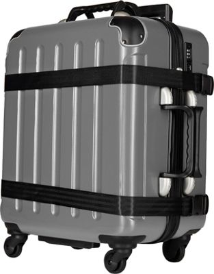 VinGardeValise Petite 02 Wine Carrier Suitcase Silver - VinGardeValise Hardside Checked