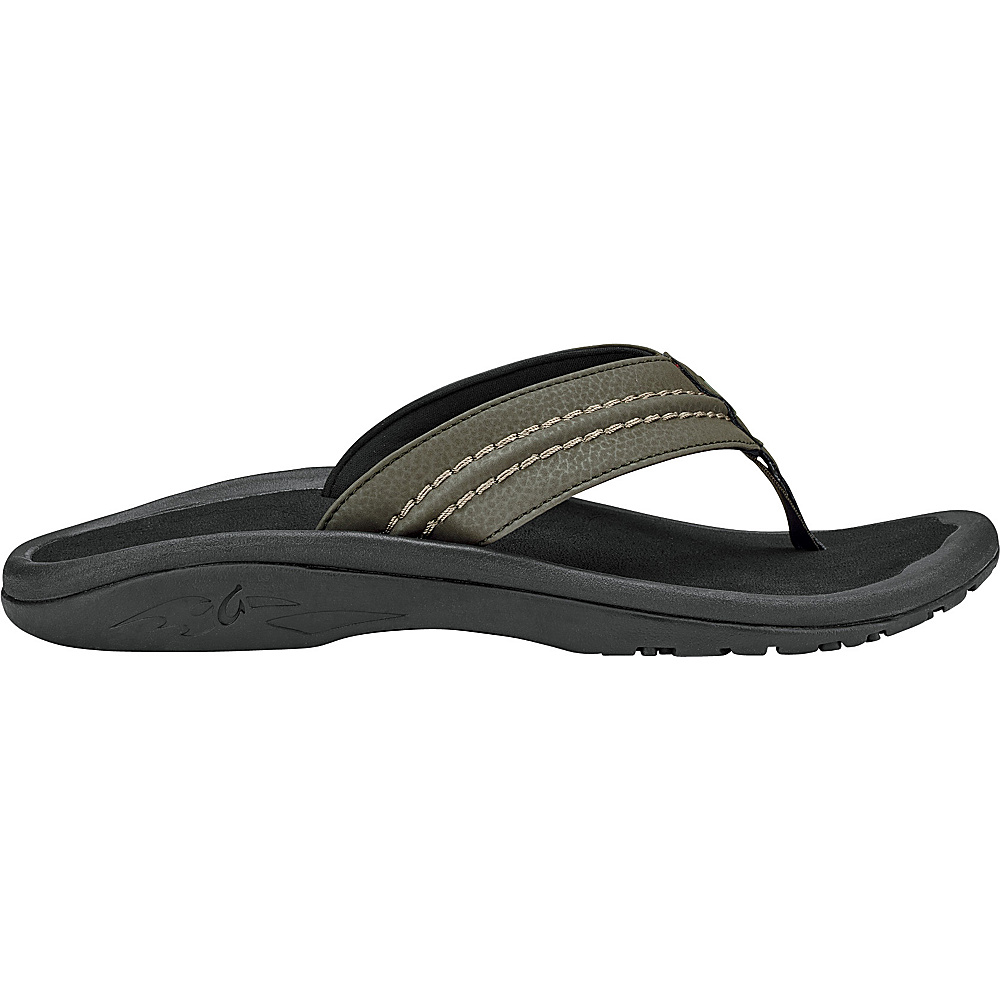 OluKai Mens Hokua Sandal 14 - Kona/Black - OluKai Mens Footwear - Apparel & Footwear, Men's Footwear