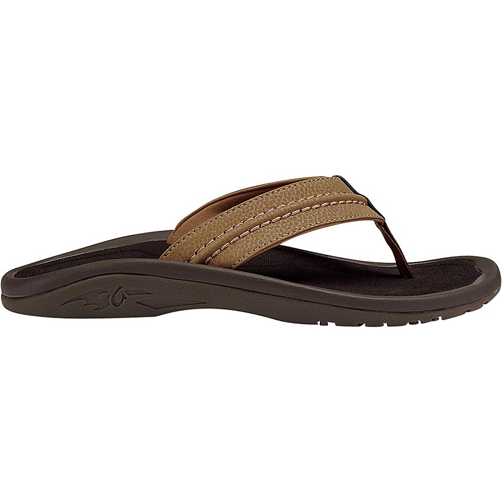 OluKai Mens Hokua Sandal 10 - Tan/Tan - OluKai Mens Footwear - Apparel & Footwear, Men's Footwear