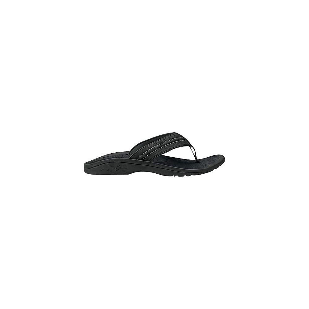 OluKai Mens Hokua Sandal 9 - Black/Dark Shadow - OluKai Mens Footwear - Apparel & Footwear, Men's Footwear