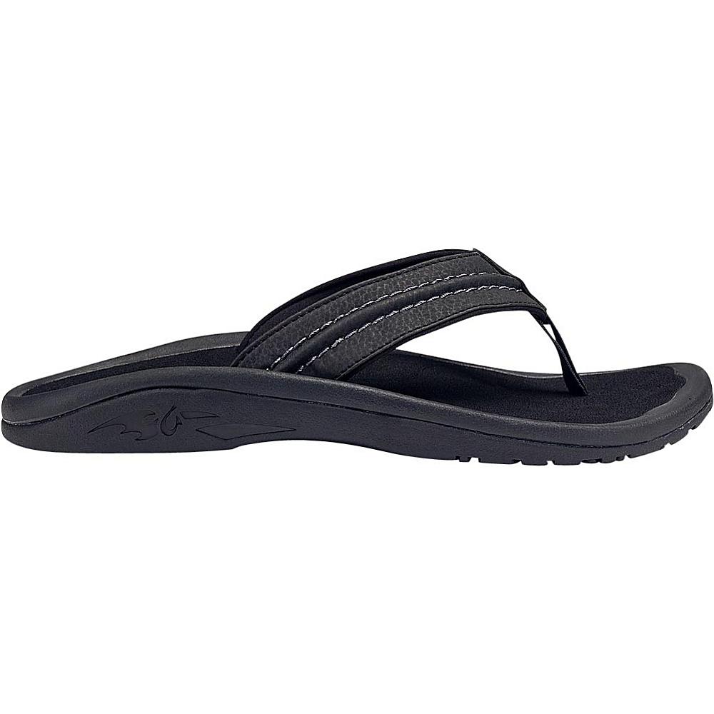 OluKai Mens Hokua Sandal 9 - Onyx/Onyx - OluKai Mens Footwear - Apparel & Footwear, Men's Footwear