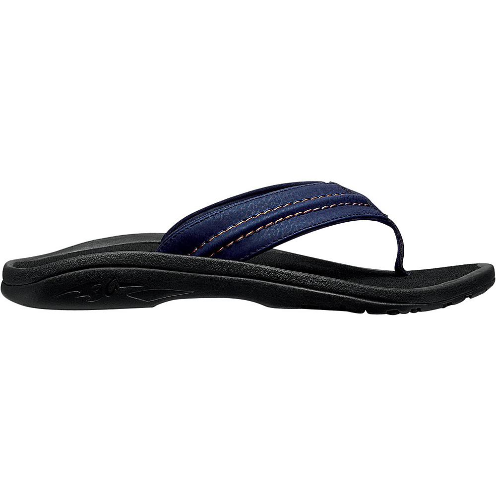 OluKai Mens Hokua Sandal 12 - Trench Blue/Black - OluKai Mens Footwear - Apparel & Footwear, Men's Footwear