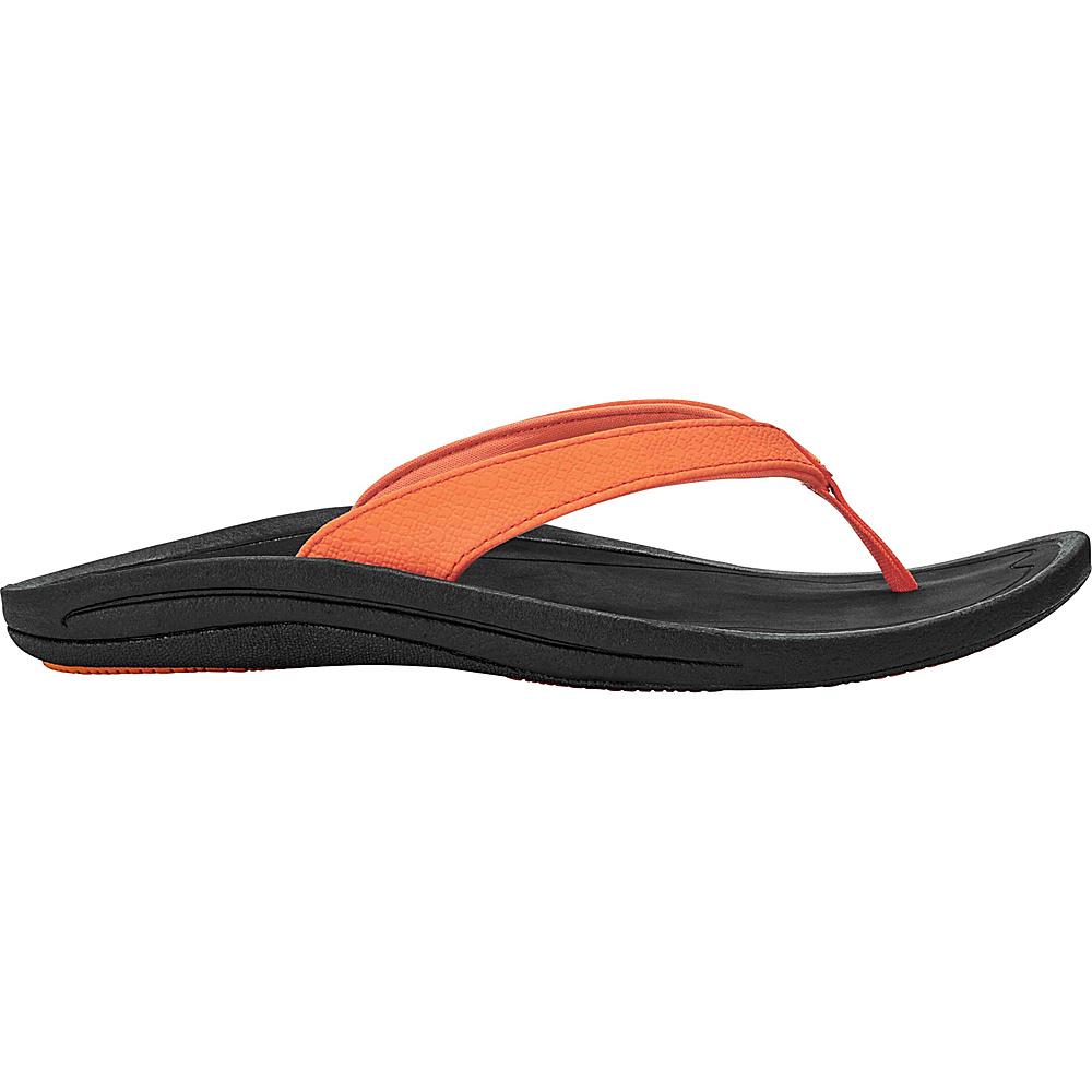 OluKai Womens Kulapa Kai Sandal 5 - Papaya/Black - OluKai Womens Footwear - Apparel & Footwear, Women's Footwear