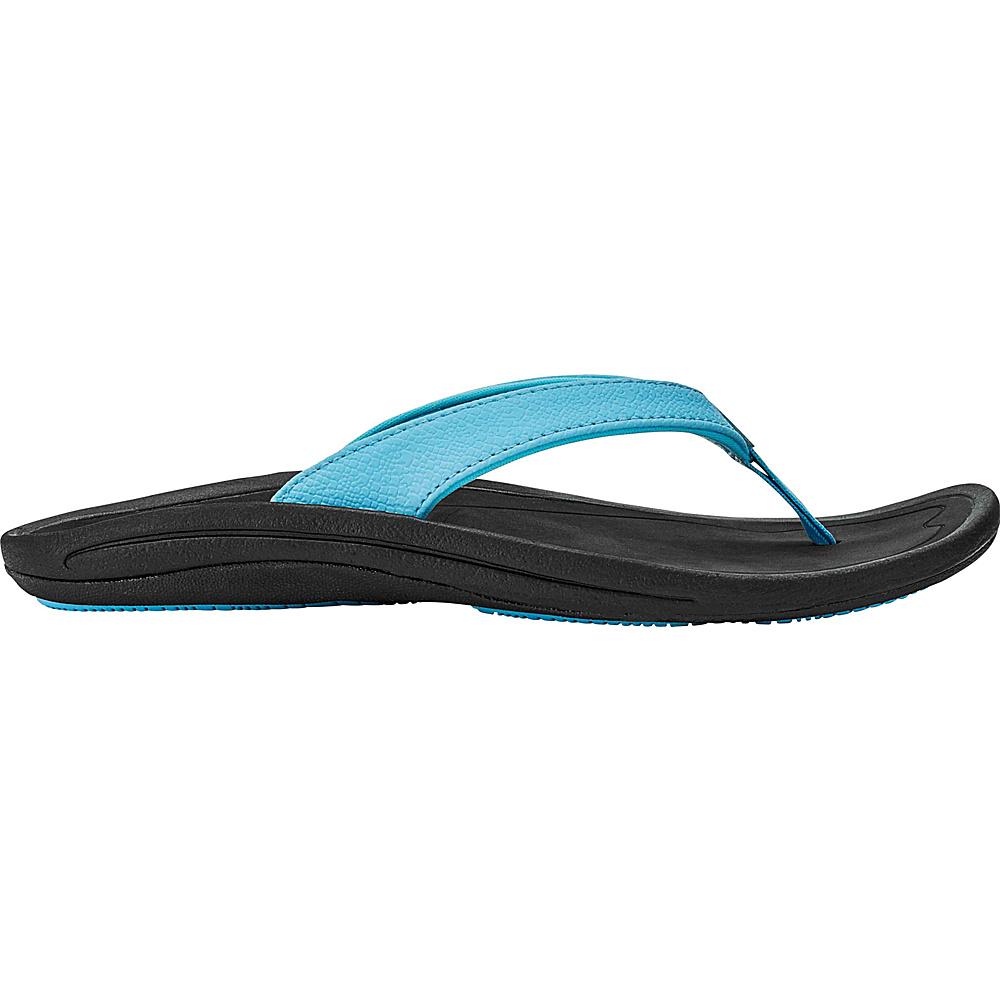 OluKai Womens Kulapa Kai Sandal 7 - Cotton Candy/Black - OluKai Womens Footwear - Apparel & Footwear, Women's Footwear