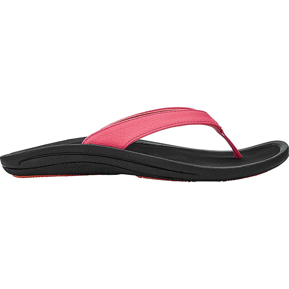 OluKai Womens Kulapa Kai Sandal 6 - Guava Jelly/Black - OluKai Womens Footwear - Apparel & Footwear, Women's Footwear