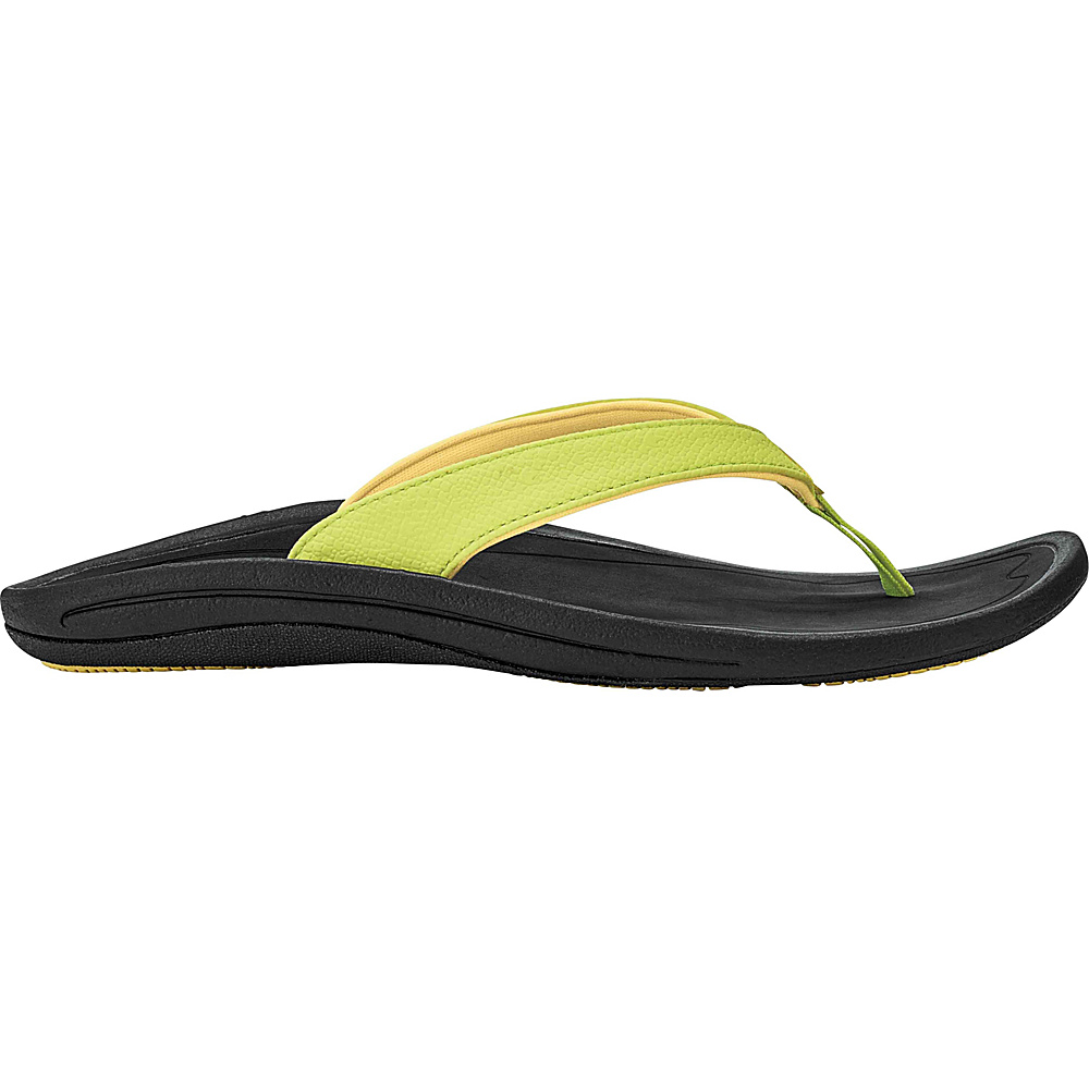 OluKai Womens Kulapa Kai Sandal 6 - Pineapple/Black - OluKai Womens Footwear - Apparel & Footwear, Women's Footwear
