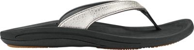 OluKai Womens Kulapa Kai Sandal 8 - Silver/Black - OluKai Women's Footwear