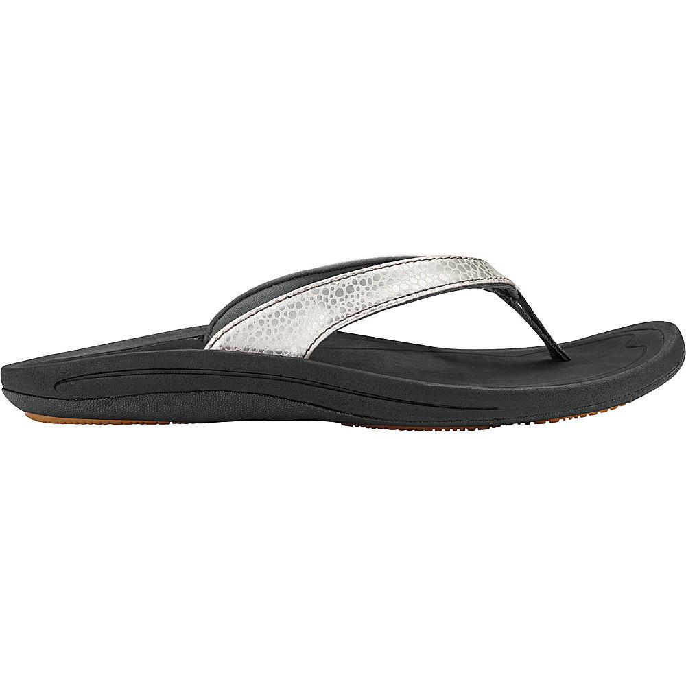 OluKai Womens Kulapa Kai Sandal 11 - Silver/Black - OluKai Womens Footwear - Apparel & Footwear, Women's Footwear