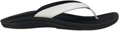 OluKai Womens Kulapa Kai Sandal 8 - White/Black - OluKai Women's Footwear