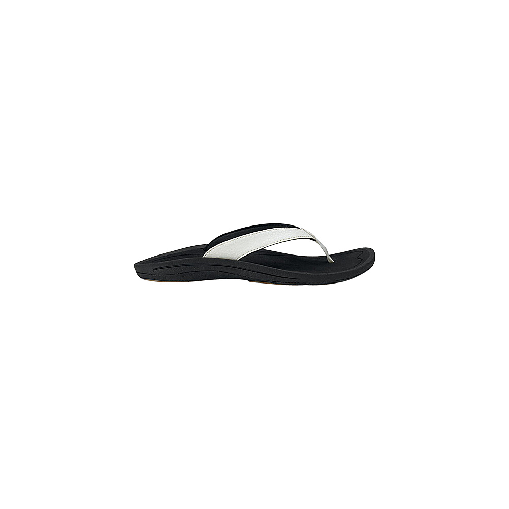 OluKai Womens Kulapa Kai Sandal 5 - White/Black - OluKai Womens Footwear - Apparel & Footwear, Women's Footwear