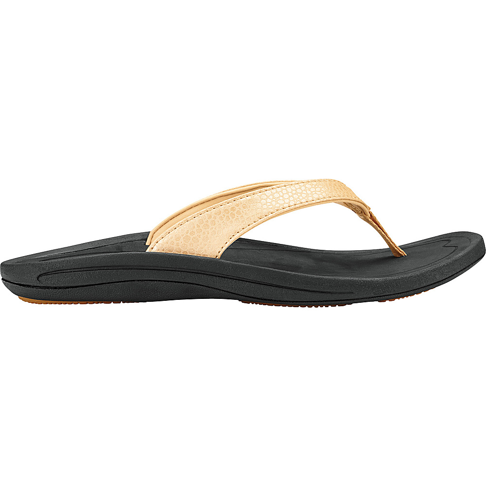 OluKai Womens Kulapa Kai Sandal 10 - Bubbly/Black - OluKai Womens Footwear - Apparel & Footwear, Women's Footwear