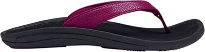 OluKai Womens Kulapa Kai Sandal 8 - Pokeberry/Black - OluKai Women's Footwear