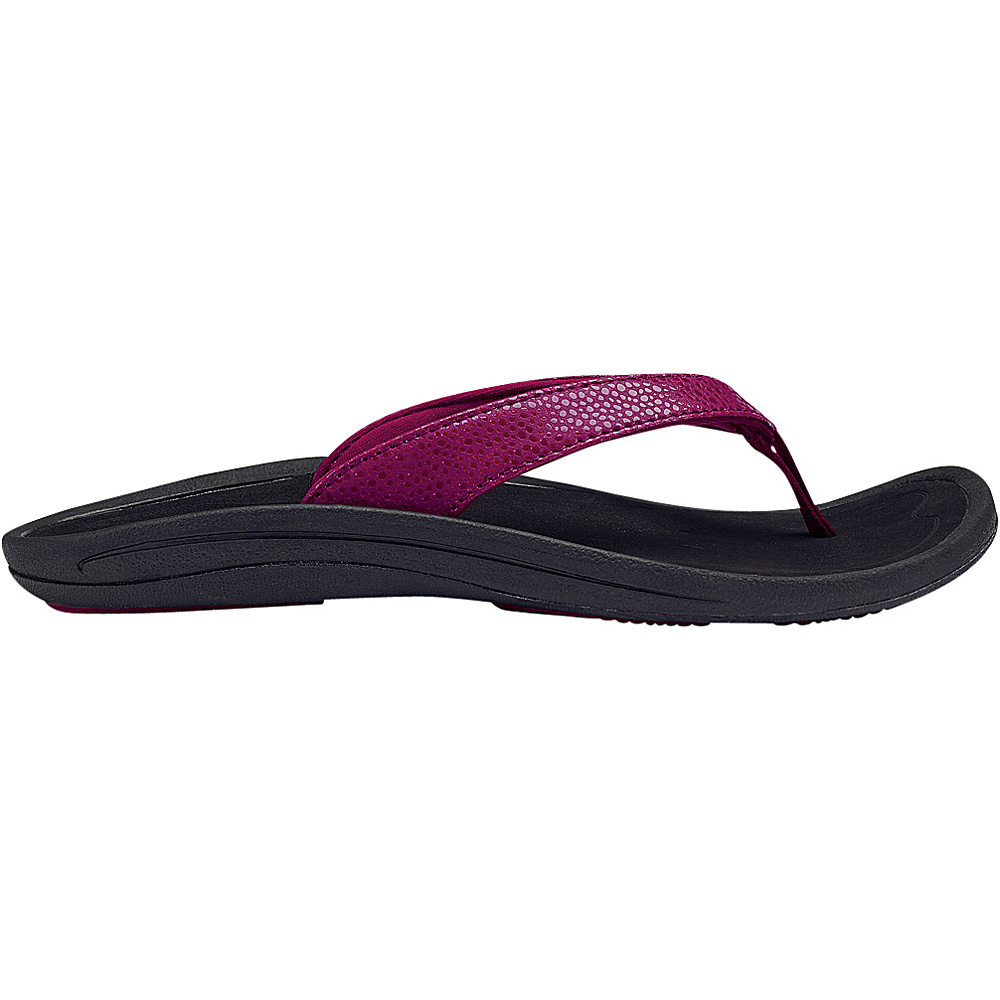 OluKai Womens Kulapa Kai Sandal 6 - Pokeberry/Black - OluKai Womens Footwear - Apparel & Footwear, Women's Footwear