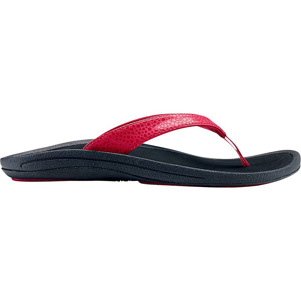 OluKai Womens Kulapa Kai Sandal 8 - Crimson/Black - OluKai Womens Footwear - Apparel & Footwear, Women's Footwear