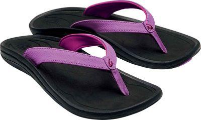 OluKai Womens Kulapa Kai Sandal 7 - Dragon Fruit/Black - OluKai Women's Footwear 10647580
