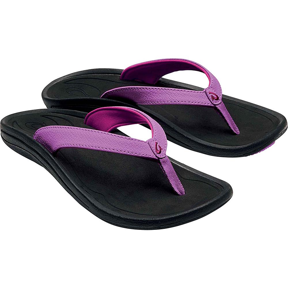 OluKai Womens Kulapa Kai Sandal 5 - Dragon Fruit/Black - OluKai Womens Footwear - Apparel & Footwear, Women's Footwear