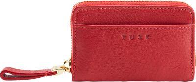 TUSK LTD Zip Coin/Card/Key Red - TUSK LTD Women's Wallets