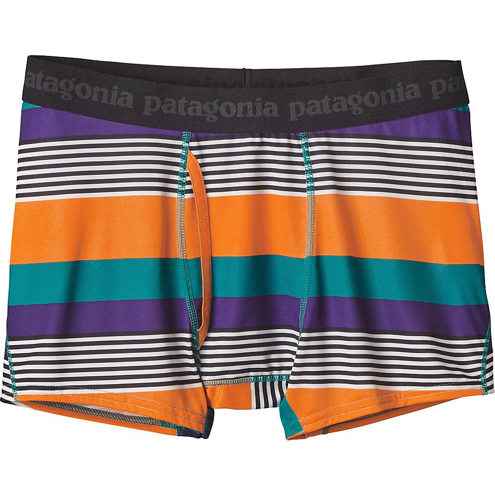 Patagonia Mens Capilene Daily Boxer Briefs 2XL - Fitz Stripe Micro: True Teal - Patagonia Mens Apparel - Apparel & Footwear, Men's Apparel