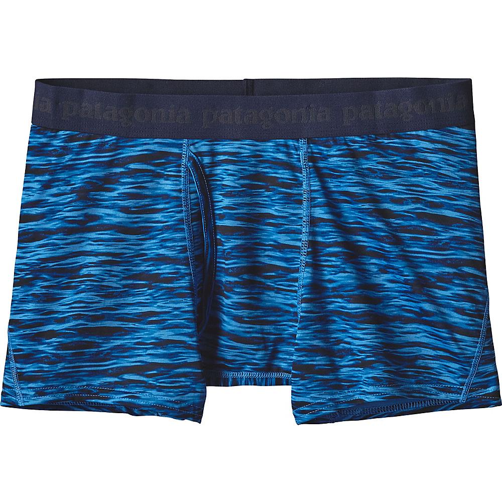 Patagonia Mens Capilene Daily Boxer Briefs S - Open Oceans: Radar Blue - Patagonia Mens Apparel - Apparel & Footwear, Men's Apparel